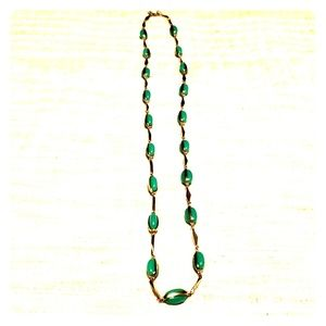 J. Crew Turquoise & Gold Necklace.